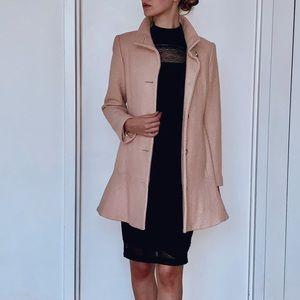 Ruffle Hem Coat